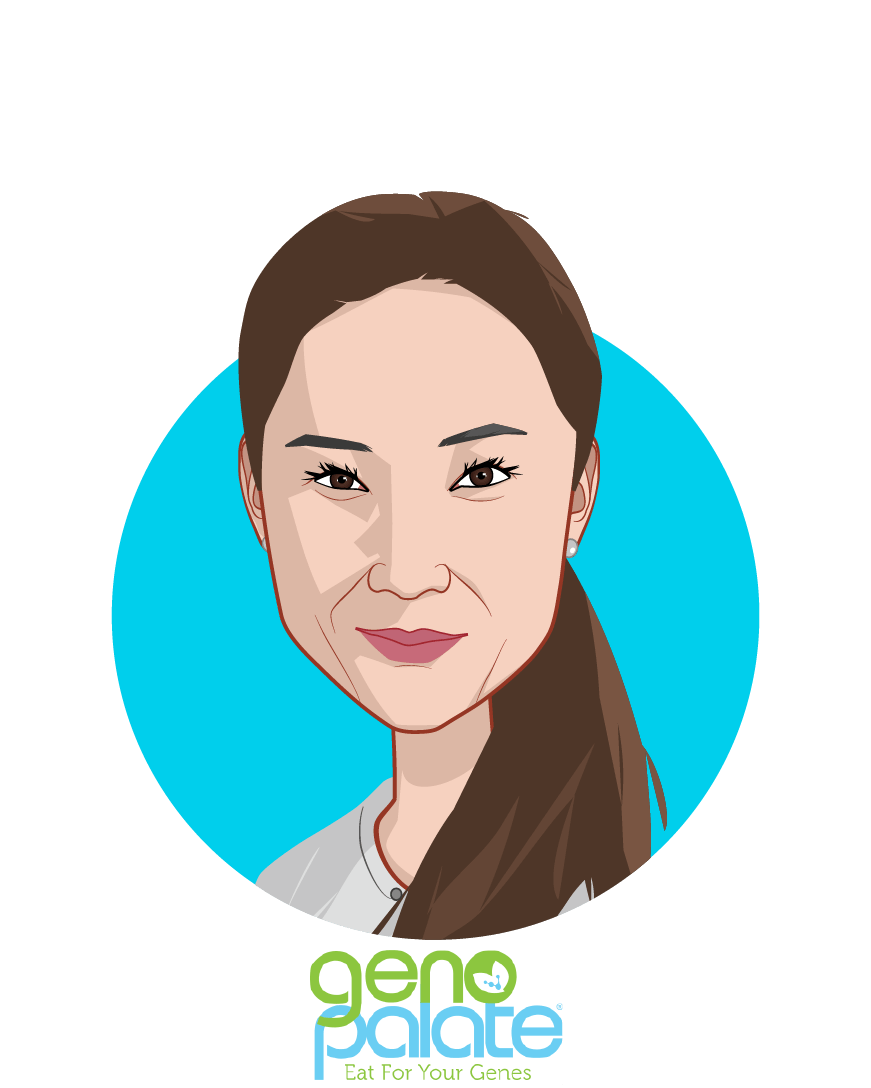 Main caricature of Yi Sherry Zhang, who is speaking at HLTH and is CEO at GenoPalate, Inc.