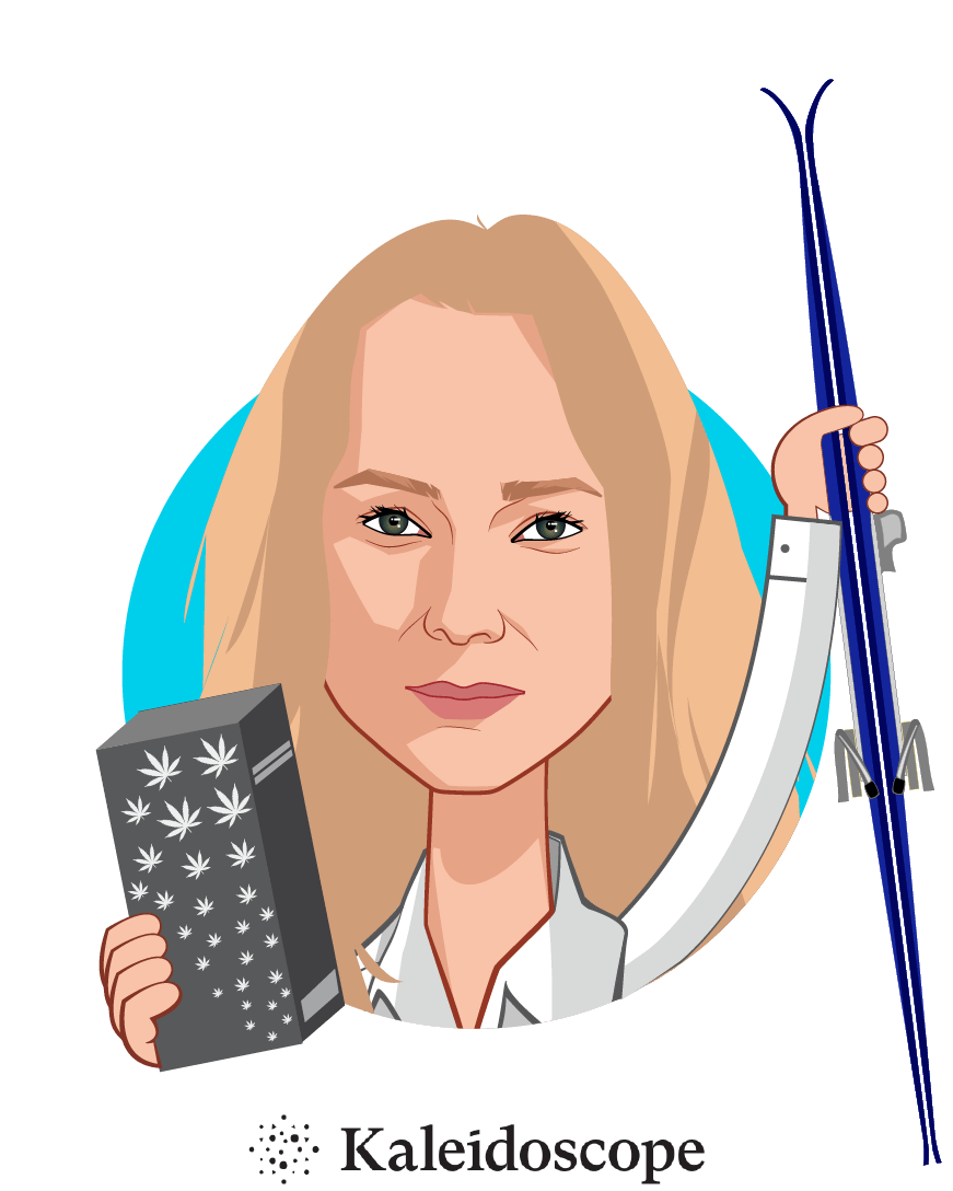 Overlay caricature of Ana Rosenstein, who is speaking at HLTH and is Founder and CEO at Kaleidoscope Labs