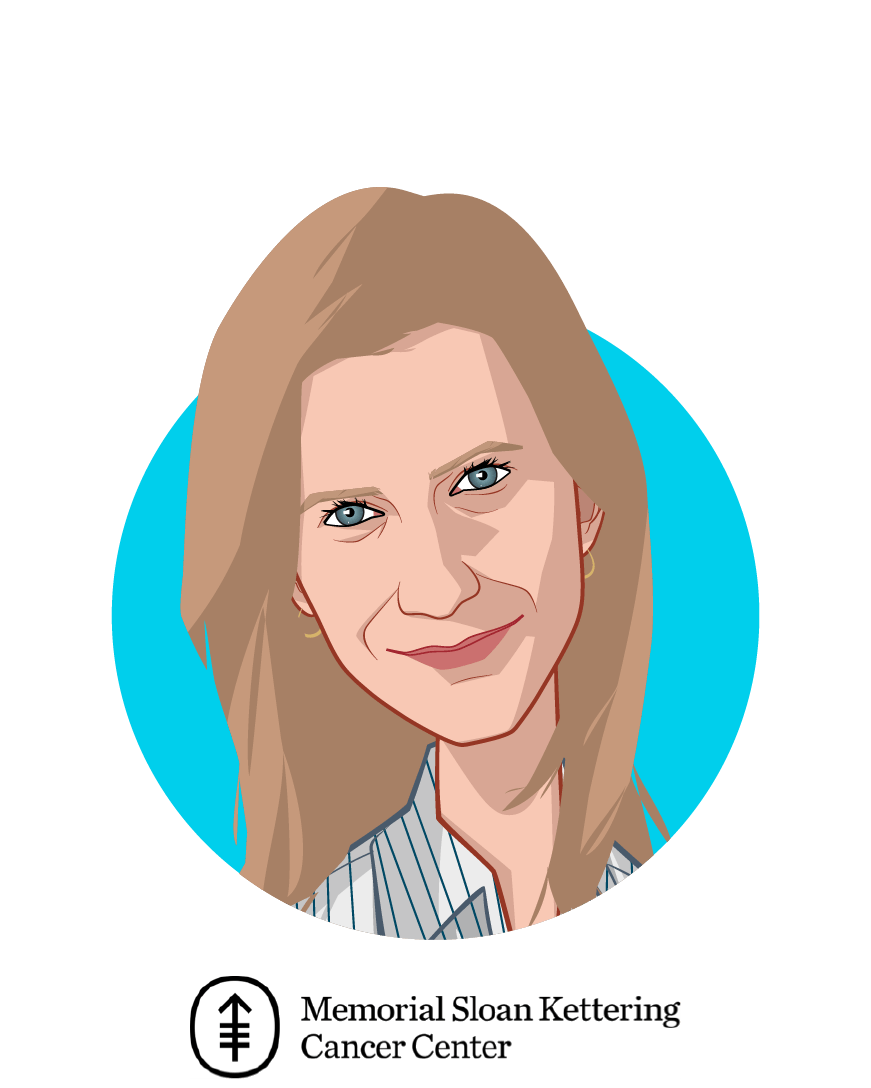 Main caricature of Anna Kaltenboeck, MA, who is speaking at HLTH and is Program Director / Senior Health Economist at Memorial Sloan Kettering Cancer Center