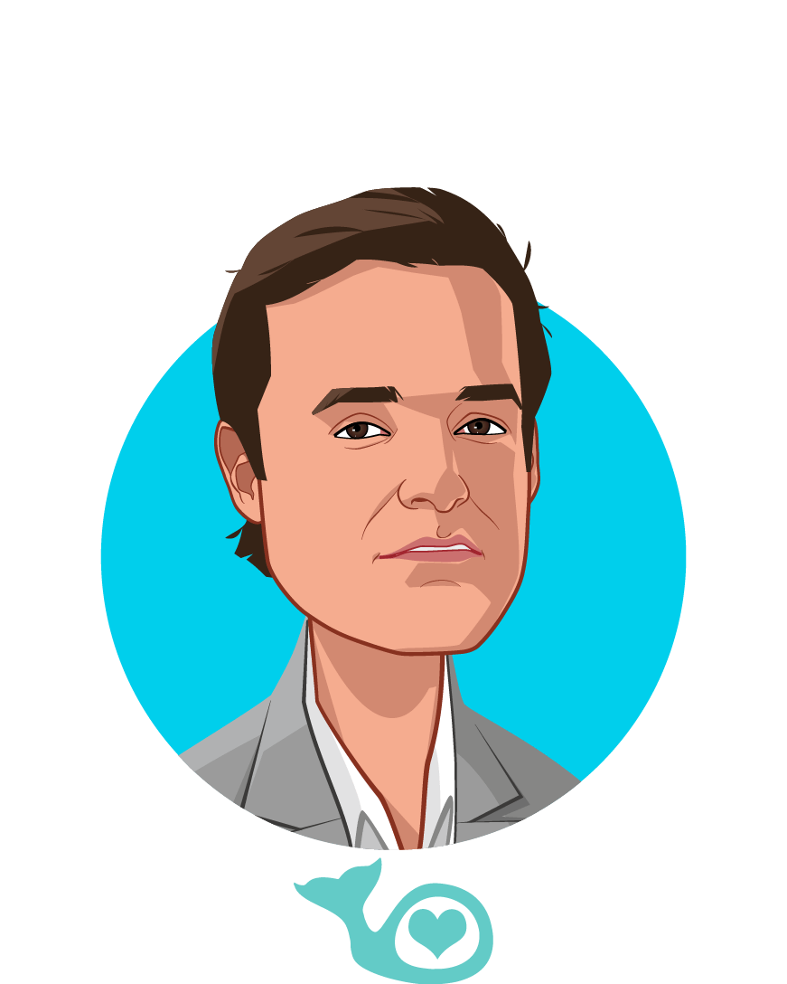 Main caricature of Francisco Diaz-Mitoma, who is speaking at HLTH and is CEO at Bowhead Health