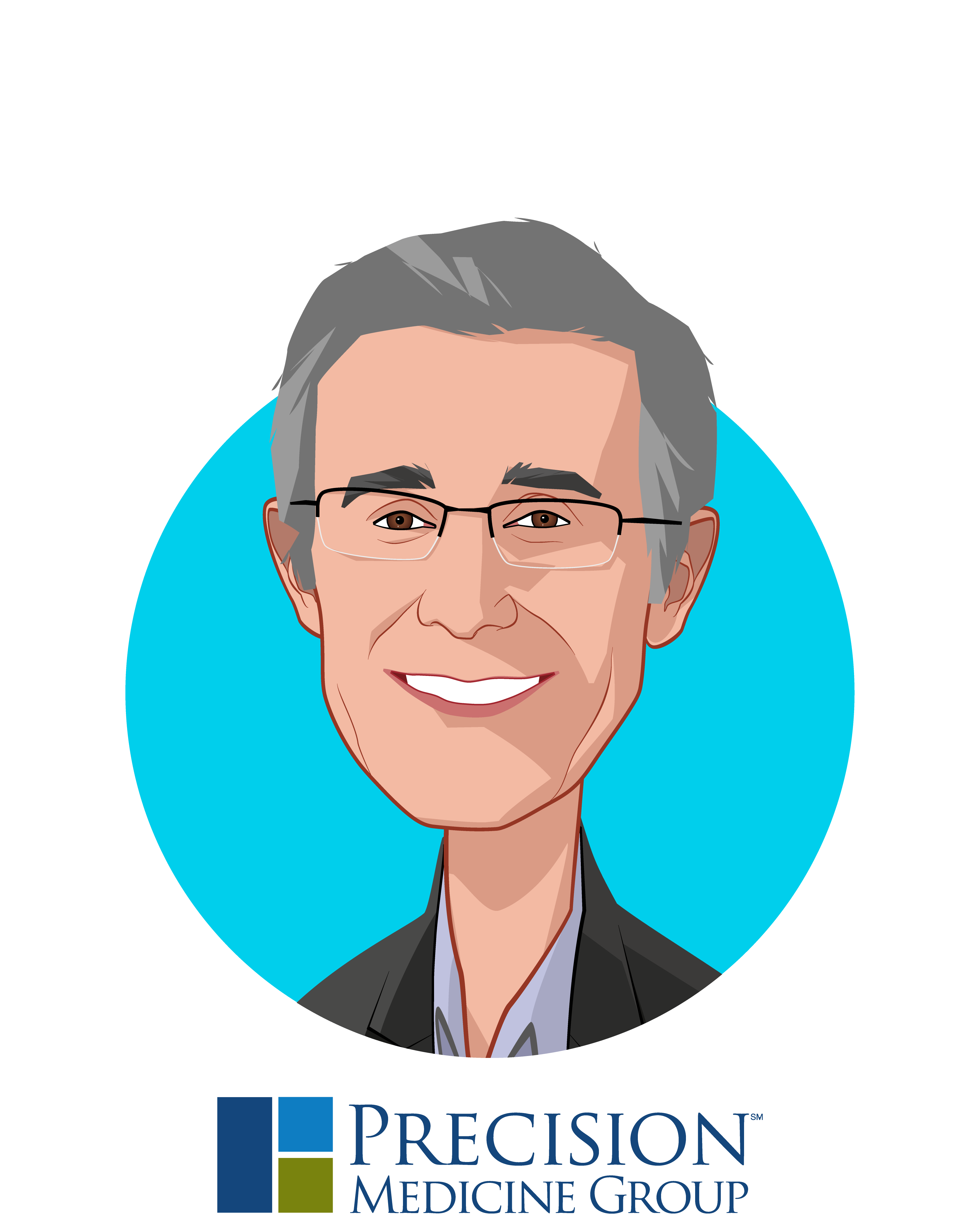 Main caricature of Mark Clein, who is speaking at HLTH and is Co-Founder and Chief Executive Officer at Precision Medicine Group