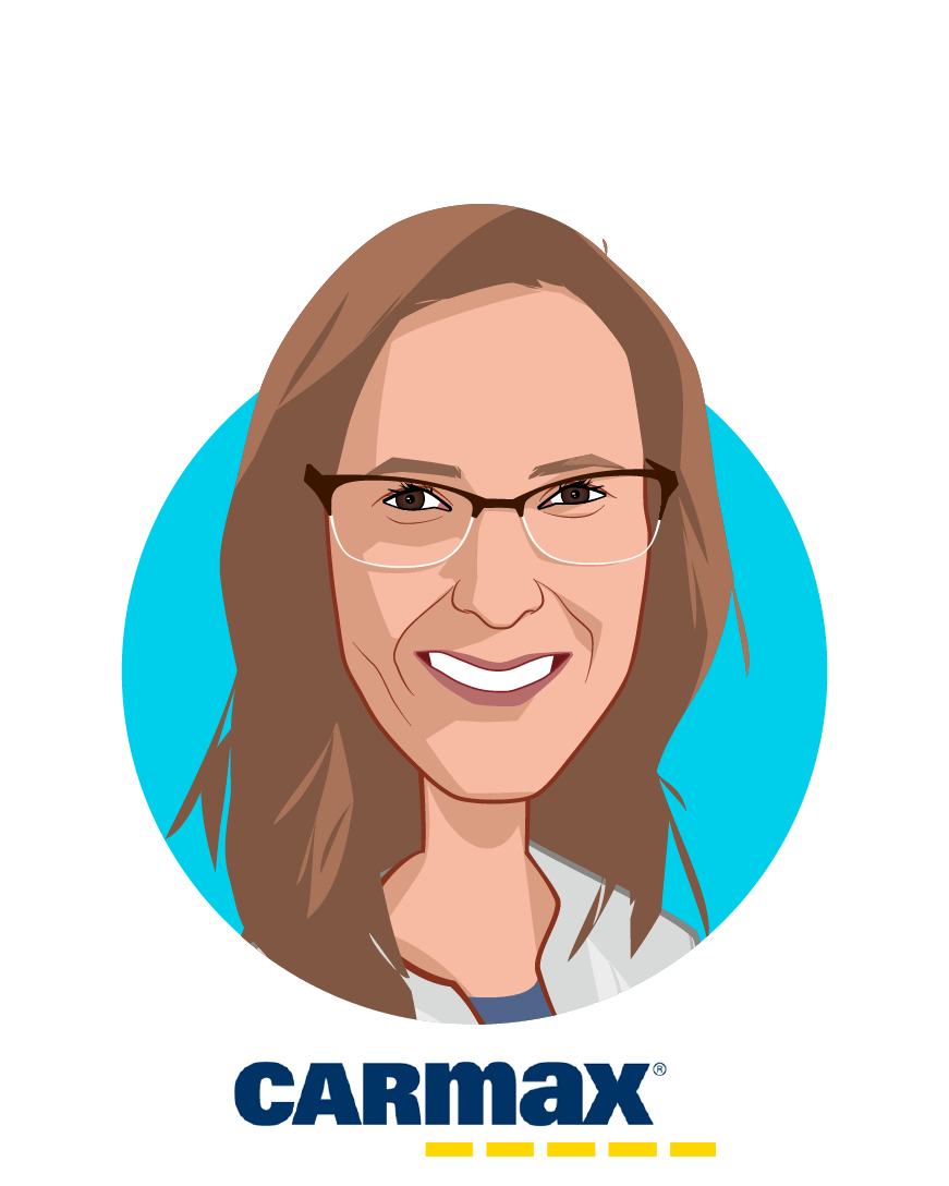 Main caricature of Meredith Touchstone, who is speaking at HLTH and is Director, Benefits at CarMax