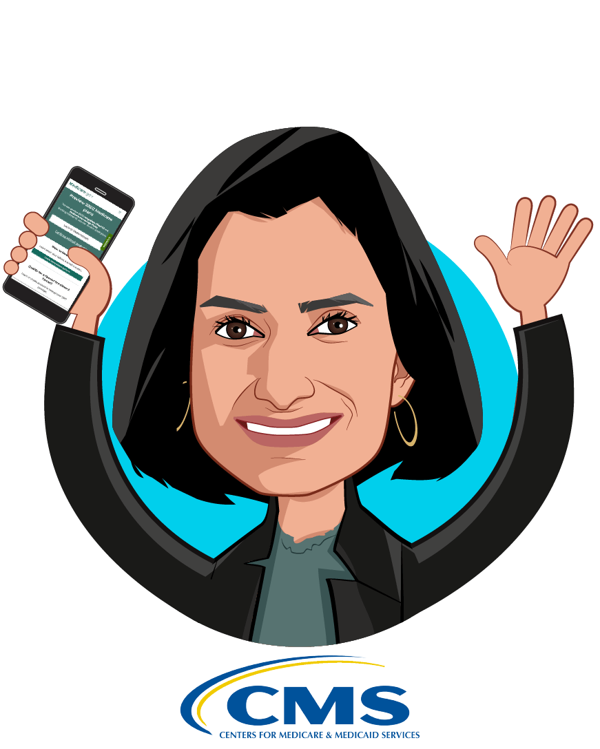 Caricature of Seema Verma, who is speaking at HLTH