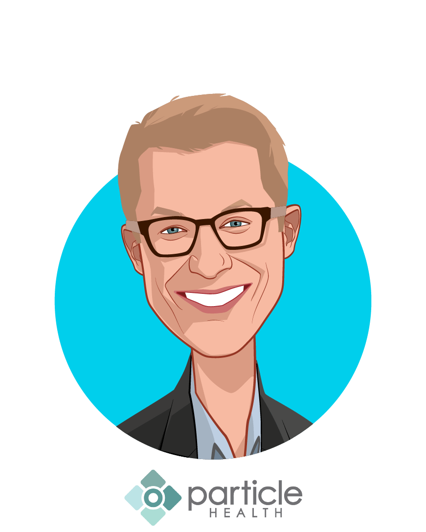 Main caricature of Troy Bannister, who is speaking at HLTH and is CEO at Particle Health Inc.